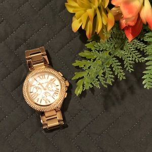 Michael Kors Chronograph Camille Rose Gold Watch